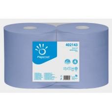 Pramoninis valomasis popierius Papernet 402143, mėlynas, 1 rul.